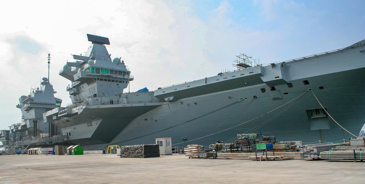 Exterior of HMS Queen Elizabeth ship