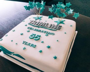 trimline 55 year birthday cake