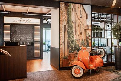Mein Schiff 4 refurbishment in Marseille - Italian speciality restaurant La Spezia